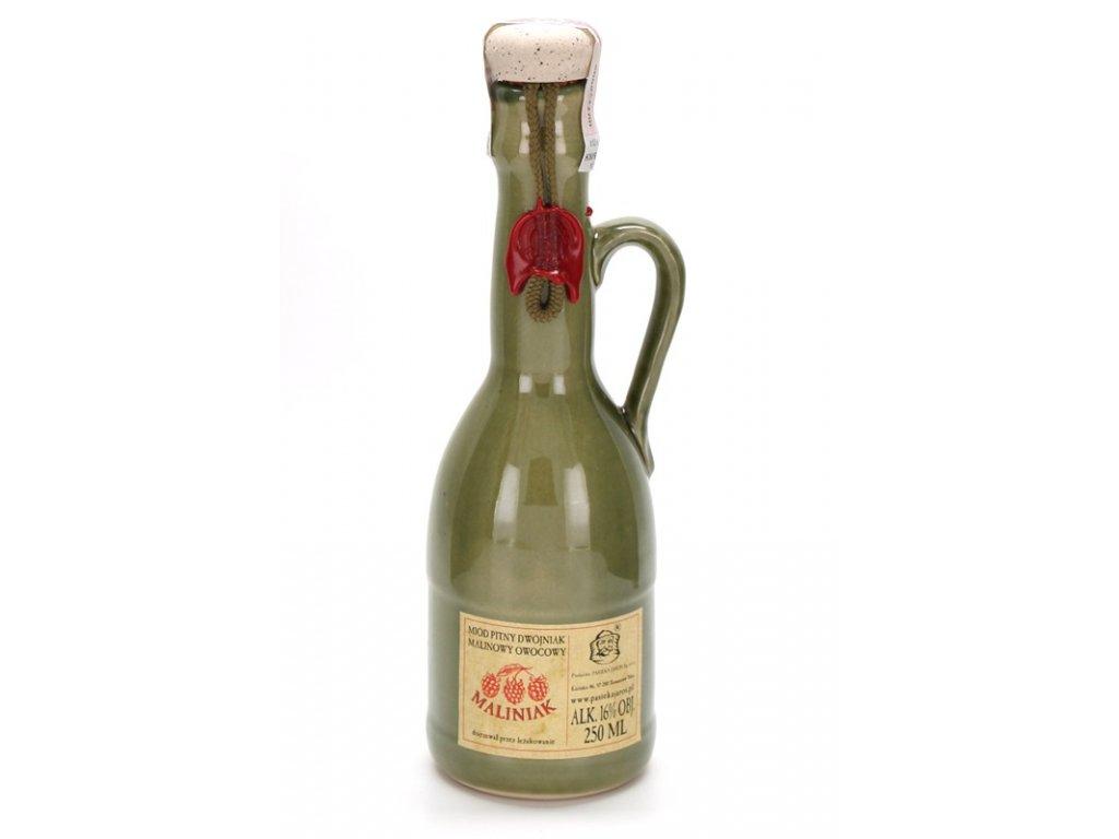 Pasieka Jaros - Miód pitny Dwójniak - Maliniak (ceramic)  0.25l, ceramic